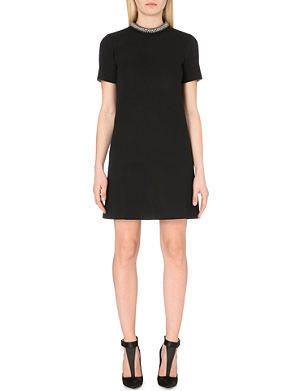 REISS Indra embellished jersey dress