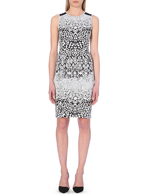 REISS Abstract printed sleeveless dress