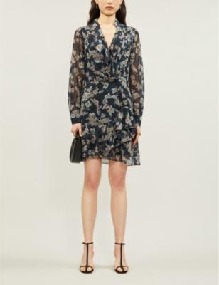 Marseille floral-print chiffon dress