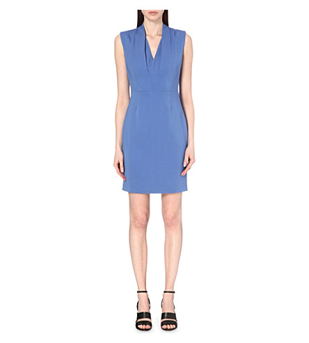 REISS Cassia sleeveless stretch-crepe mini dress (Cornflower+blue