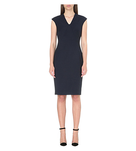 REISS Indi wool-blend dress (Navy