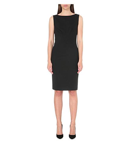 REISS 达特茅斯羊毛混纺连衣裙 (黑色