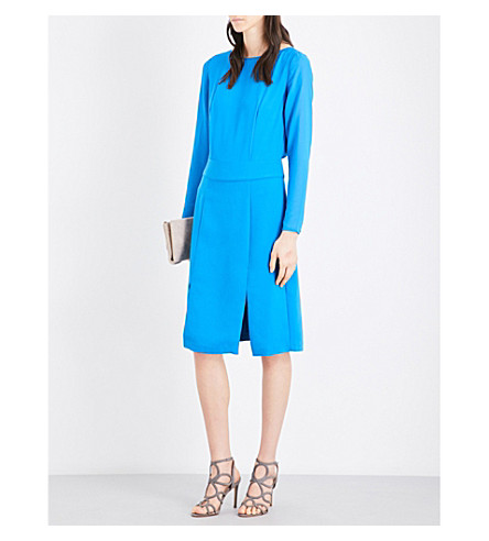 REISS Alessa crepe dress (Bright+blue