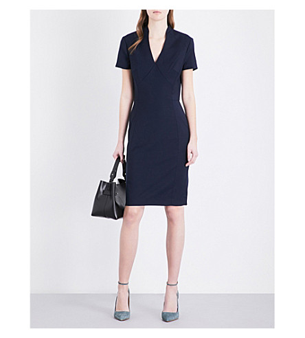 REISS Indis wool-blend dress (Navy