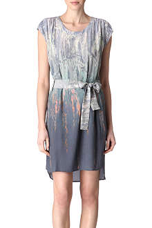 REISS Helen palm print dress