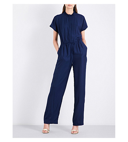 REISS Marienella gathered woven jumpsuit (Ink