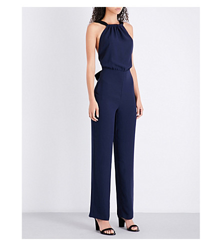 REISS Lolita crepe jumpsuit (Ink