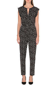 REISS Dalmatian print jumpsuit