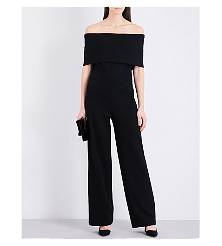 REISS Raffi crepe jumpsuit (Black