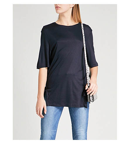 REISS Hardy woven top (Night+navy