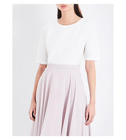 REISS Marcey woven top (Off+white