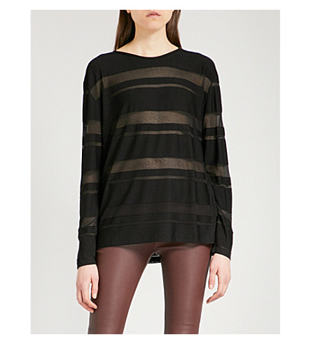 REISS Dione knitted jumper (Black