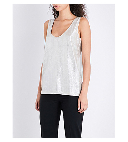 REISS Gemma metallic top (Gold+metallic