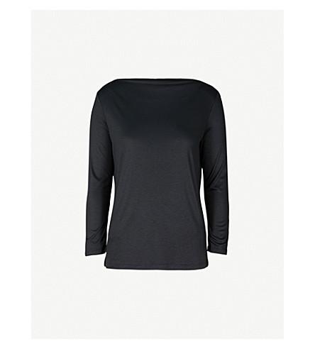 REISS Marilyn jersey top (Black