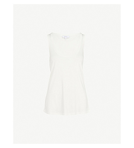 REISS Lilith scoop neck top (Off+white