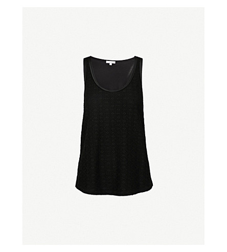 REISS Lula jersey top (Black