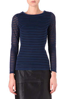 REISS Betz striped top