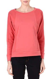 REISS Pisces quilted-panel sweatshirt