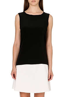 REISS Kali silk-front sleeveless top