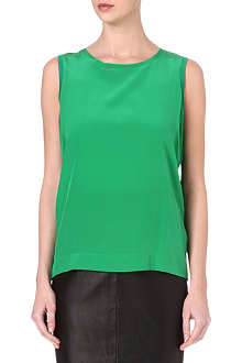 REISS Kali silk and jersey top
