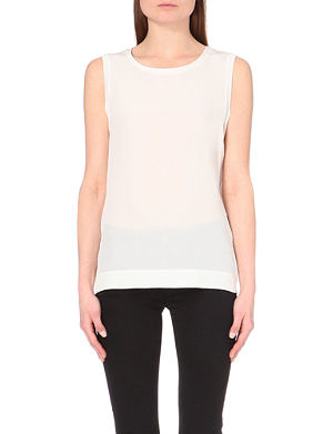 REISS Kali sleeveless silk top