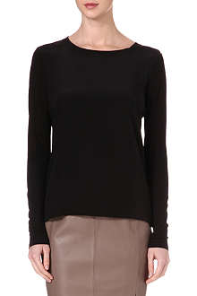 REISS Katie silk and jersey top