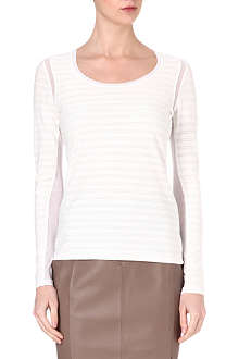 REISS Minzi striped jersey top