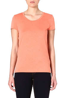 REISS Scoop-neck cotton-blend t-shirt