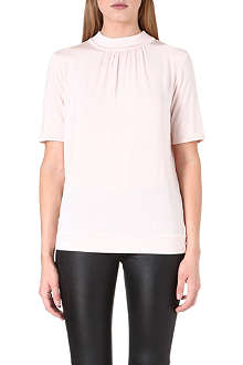 REISS Riley high-neck jersey top