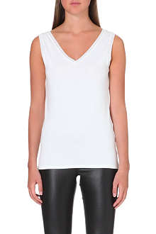 REISS V neck jersey vest top