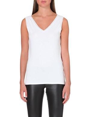 REISS V neck jersey vest top