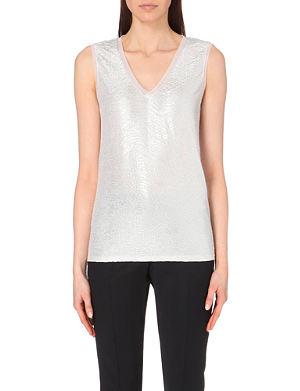 REISS Ona metallic vest top