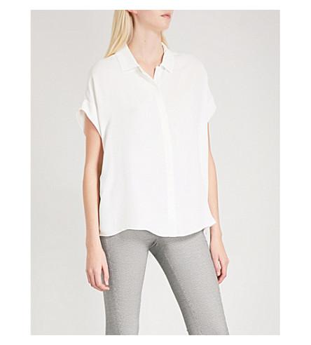 REISS Simi dolman-sleeve woven blouse (Off+white