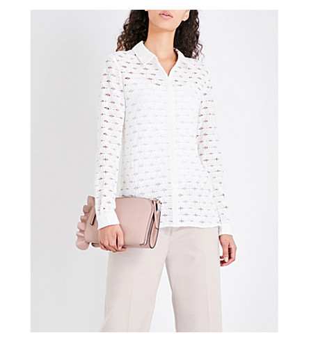 REISS Simonetta lace blouse (Off+white