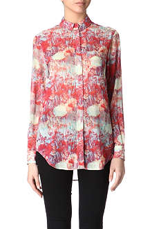 REISS Josh semi-sheer shirt