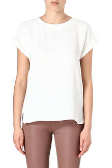 REISS Eleanor button-back top