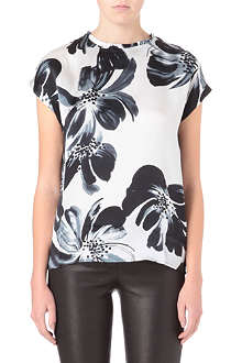 REISS Eleana silk top