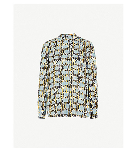 REISS Karina crepe blouse (Multi