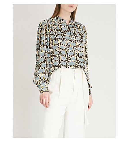 REISS Karina crepe blouse (Multi