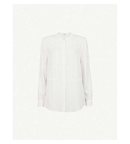 REISS Anna woven blouse (Off+white
