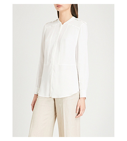 REISS Anna woven blouse (Off+white