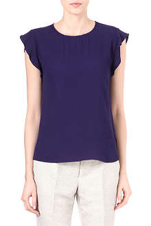 REISS Whitely frill-sleeved top