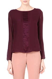 REISS Rose silk top