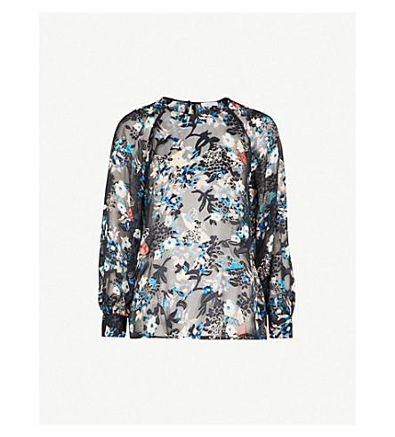 REISS Inga floral blouse (Multi