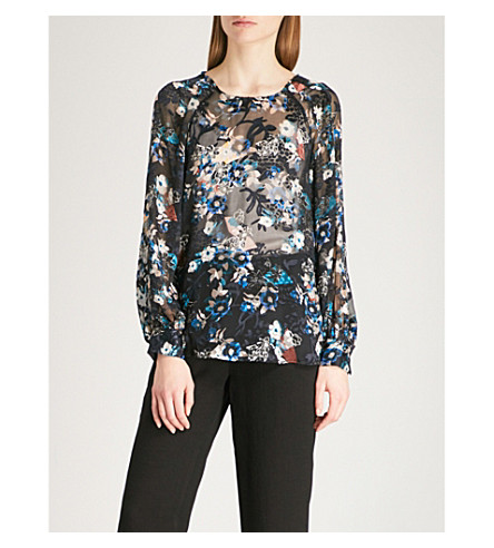 REISS Inga floral blouse (Multi