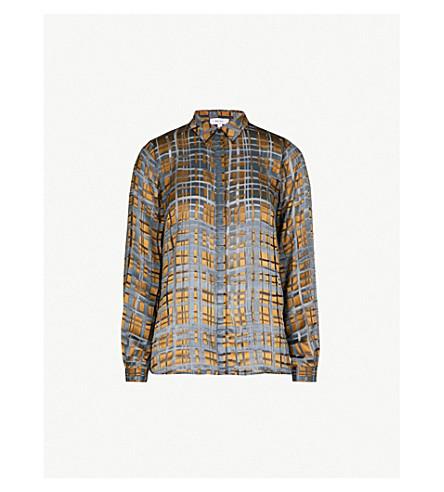 REISS Elisandra devoré blouse (Multi