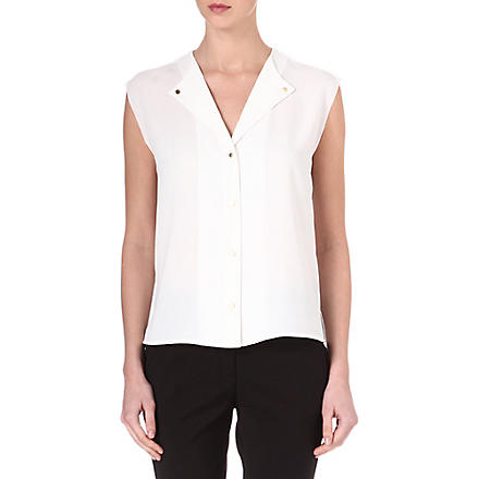 REISS Venetian sleeveless top (Ivory