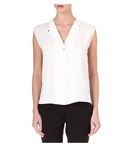 REISS Venetian sleeveless top (Ivory
