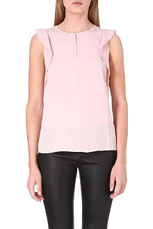 REISS Gabriel sleeveless ruffle top