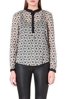 REISS Honey flower technique shirt